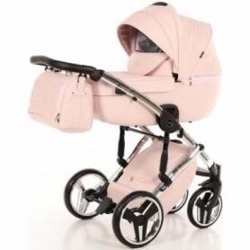 Детская коляска 2 в 1 Tako Junama Enzo Go 02 Розовая на серебряной раме (13-JEG02)