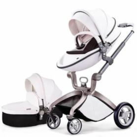 Универсальная коляска 2 в 1 Hot Mom Белая (HM559976)