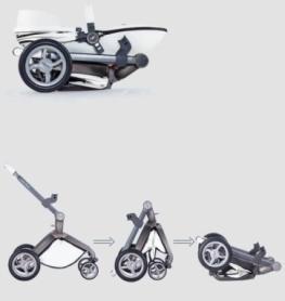 Универсальная коляска 2 в 1 Hot Mom Белая (HM559976) - Фото №2