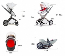 Универсальная коляска 2 в 1 Hot Mom Белая (HM559976) - Фото №4