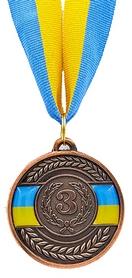 Медаль спортивная Ukraine C-6865-3, бронзовая