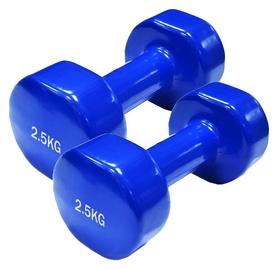 Гантели виниловые Spart, 2 шт по 2,5 кг - синие (DB2113-2,5Blue)