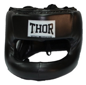 Шлем боксерский Thor Nose Protection 707 (Leather) BLK