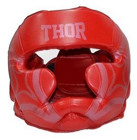 Шлем боксерский Thor Cobra 727 (Leather) RED - красный