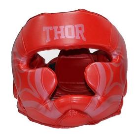 Шлем боксерский Thor Cobra 727 (PU) RED - красный