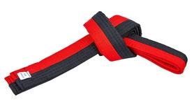 Пояс для кимоно Combat Budo BO-7259 - черно-красный