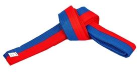 Пояс для кимоно Combat Budo BO-7258) - красно-синий