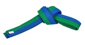 Пояс для кимоно Combat Budo BO-7257 - сине-зеленый