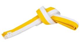 Пояс для кимоно Combat Budo BO-7255 - желто-белый