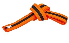 Пояс для кимоно Combat Budo BO-7262 - оранжево-черный