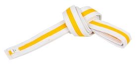 Пояс для кимоно Combat Budo BO-7260 - бело-желтый