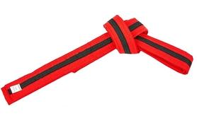 Пояс для кимоно Combat Budo BO-7265 - красно-черный