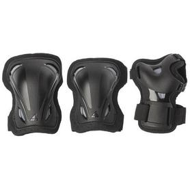 Защита для катания Rollerblade Skate Gear 3 Pack, черно-серая (069P0100-2019)