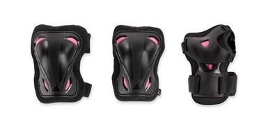 Защита для катания Rollerblade Skate Gear W 3 Pack, черно-розовая (069P0500-2019)