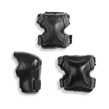 Защита для катания Rollerblade X-Gear 3 Pack, черная (067P0100-2019)