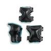 Защита для катания Rollerblade X-Gear  W 3 Pack, черно-голубая (067P0300-2019)