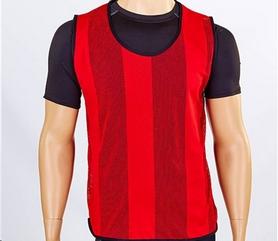 Распродажа*! Накидка (манишка) тренировочная подростковая Soccer CO-5462 красная