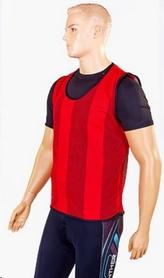 Накидка (манишка) тренировочная подростковая Soccer CO-5462 красная - Фото №3