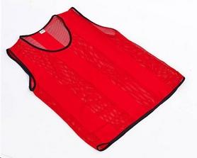 Накидка (манишка) тренировочная подростковая Soccer CO-5462 красная - Фото №5
