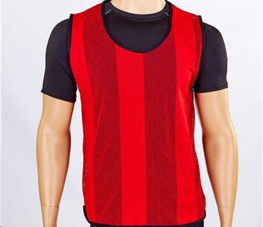 Накидка (манишка) тренировочная подростковая Soccer CO-5462 красная