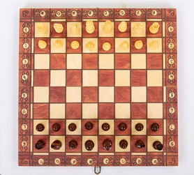 Набор игр 3 в 1 (шахматы, шашки, нарды) магнитный Backgammon - Фото №7