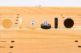 Набор игр 3 в 1 (шахматы, шашки, нарды) магнитный Backgammon - Фото №9