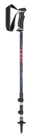 Палки треккинговые Leki Journey Lite As – blue metallic/red-white, 100-135 см (6492183)