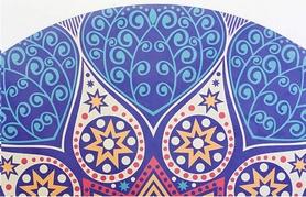 """Коврик для йоги круглый Record FI-6218-2-C 3 мм """"Возрождение"""", 150 см - Фото №3"""