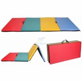 Мат гимнастический складной Тia-Sport с 4-х частей (sm-0140), 300-100-5 см