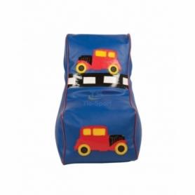 Кресло мешок детский Машинка синий