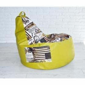Кресло груша с карманом Люкскомфорт микс - Фото №2
