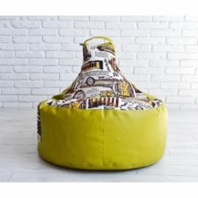 Кресло груша с карманом Люкскомфорт микс - Фото №5