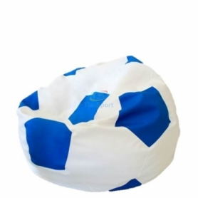 Кресло мешок Мяч футбольный  синий с белымTia-Sport