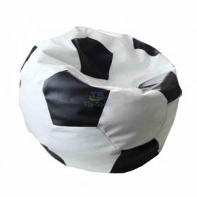 Кресло мешок Мяч футбольный  черный с белымTia-Sport