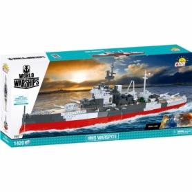 Конструктор COBI World Of Warships Корабль Его Величества «Уорспайт», 1400 деталей