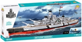 Конструктор COBI World Of Warships Линкор Бисмарк, 1974 деталей (COBI-3081)