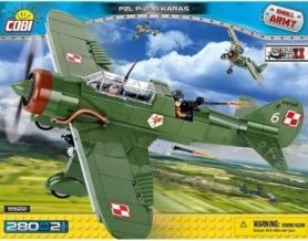 Конструктор COBI Вторая Мировая Война Самолет PZL Карась P-23B, 280  деталей (COBI-5