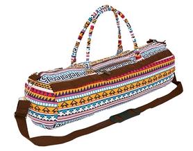 Сумка для йога-коврика Yoga bag Kindfolk (FI-6969-4) - оранжево-голубая
