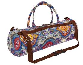 kindfolk Сумка для йога-коврика Yoga bag Kindfolk (FI-6969-1) - сине-оранжевая