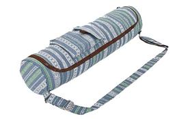 Сумка для йога-коврика Yoga bag Kindfolk (FI-8362-3) - серо-синяя