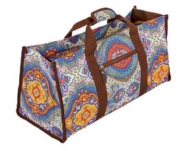 Сумка для фитнеса и йоги Yoga bag DoYourYoga (FI-6971-1) - сине-оранжевая