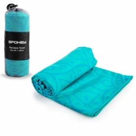 Полотенце охлаждающее для спортзала Spokey Mandala (926049) бирюзовое, 80х160 см