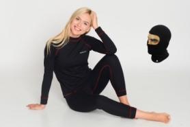 Комплект термобелья женский Rough Radical Rock, черный с красным