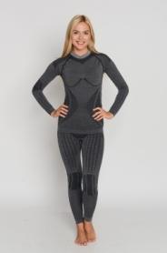 Комплект термобелья женский с шерстью альпаки Haster Hanna Style Alpaca Wool (SL90061) - серый