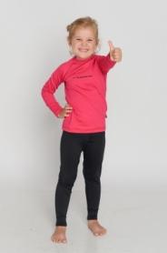 Комплект термобелья детский лыжный Double (SL8040) - розовый