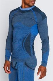 Термокофта мужская с шерстью альпаки Haster Alpaca Wool (SL50w103) - синяя