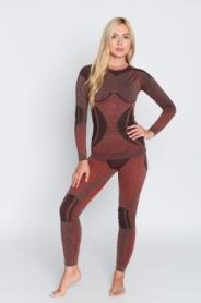 Комплект термобелья женский с шерстью альпаки Haster Hanna Style Alpaca Wool (SL90094) - красный