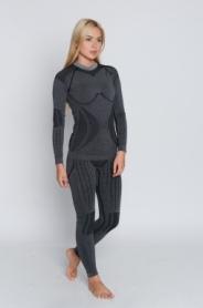 Термокофта женская с шерстью альпаки Haster Hanna Style Alpaca Wool (SL60w101) - серая