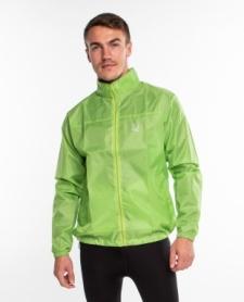 Ветровка-дождевик с капюшоном мужская Rough Radical Flurry (original) (SL8044) - зеленая
