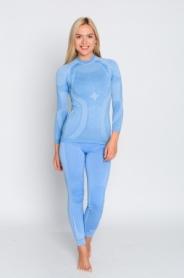 Комплект женского термобелья с шерстью мериноса Haster Hanna Style Merino Wool (SL90023) - синий